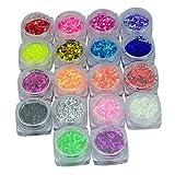 New 18 Colors Nail Art Glitter Hexagon for UV GEL Acrylic Powder Decoration