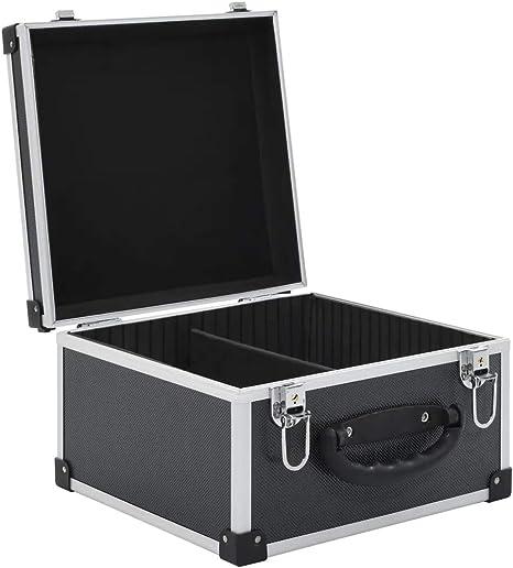 CFG - Caja de almacenamiento para 40 CDs/discos ABS (aluminio), color negro: Amazon.es: Instrumentos musicales