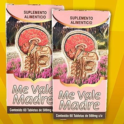 2 Cajas Me Vale Madre 60 Caps. Each Box Headache Migraine & Stress/ Dolor De Cabeza,estres