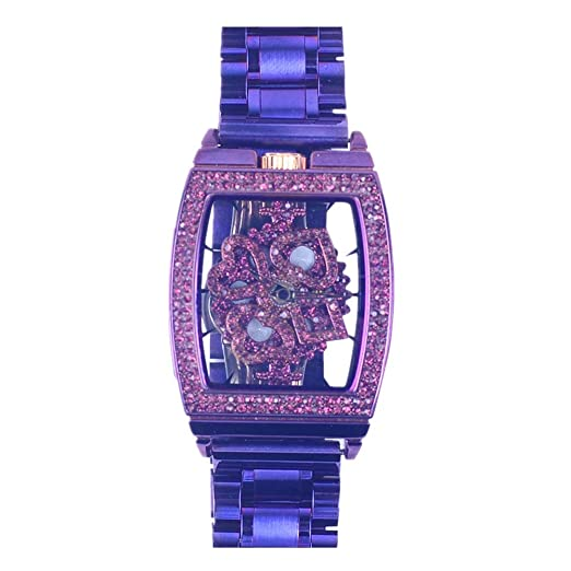 Relojes de Pulsera Núcleo De Cuarzo De Moda Correa De Acero De Precisión Reloj De Pulsera para Mujer con Buena Suerte Concha Púrpura: Amazon.es: Relojes