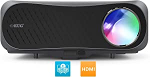 1080P Native Home Projector 2020, 7000Lumen Full HD Digital LCD Video Projector 1920x1080 Support 4K, Keystone, ZOOM, Ceiling, HDMI,USB for DVD PC Laptop TV Phone Game Outdoor Movie Night Basement