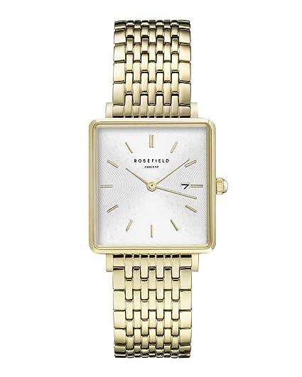 Rosefield Reloj Analógico para Mujer de Cuarzo con Correa en Acero Inoxidable QWSG-Q09: Amazon.es: Relojes