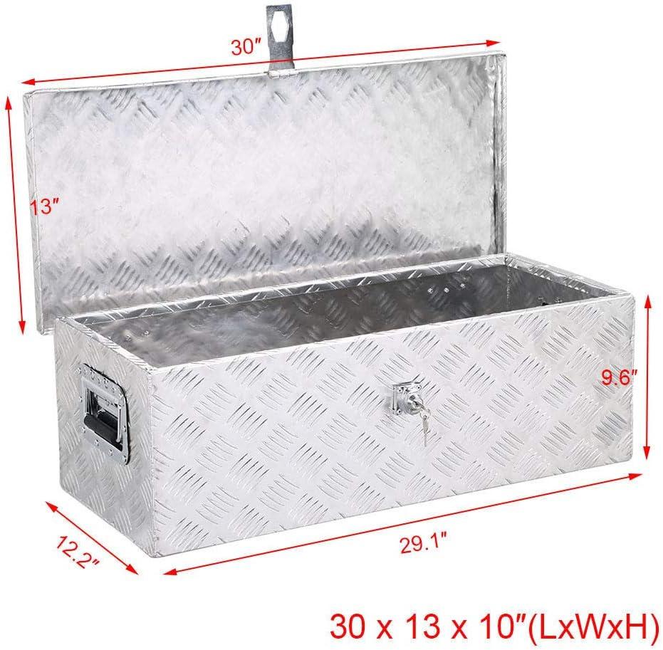 "30/""x18.1/""x18.1/""Aluminum Truck Bed Camper Storage Tool Box Trailer//RV"