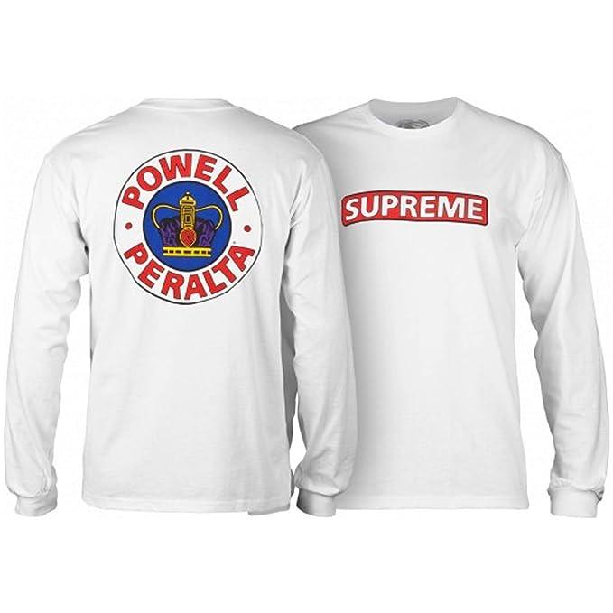 Powell Camiseta de Manda Larga Peralta Supreme Blanco: Amazon.es: Ropa y accesorios