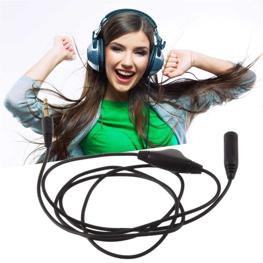 Cavo di prolunga audio da 3,5 mm M//F 1M per cuffie stereo con controllo del volume per microfoni per altoparlanti stereo per cuffie
