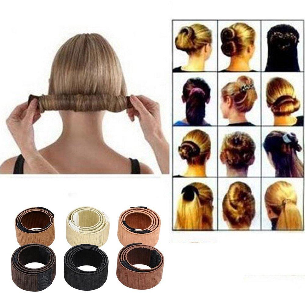 Amazon Wisdompark 2 Pieces Hair Styling Disk Donut Bun Maker