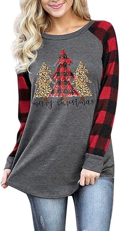 Camisa de Navidad para Mujer, Chic, a Cuadros Altos, para ...
