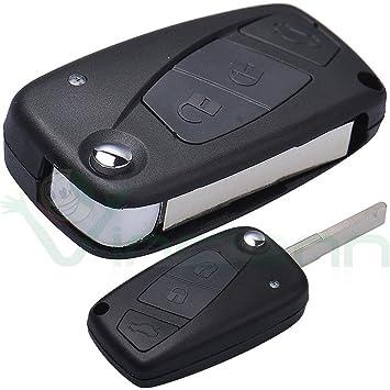 Carcasa dura para llaves, mando a distancia, 3 botones, plegable, para Fiat Grande Punto Stilo Idea Doblo Ulysse Ducato CGP