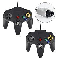 QUMOX 2X Game Controller Joystick for Nintendo 64 N64 System GamePad Black