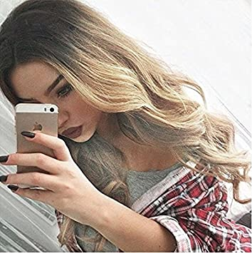 Amazon Com Deifor 24 Long Curly Dark Roots Hair Ombre
