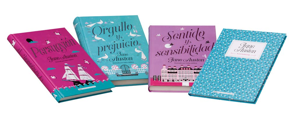 Estuche - Jane Austen: mejores títulos + notebook Pack Clásicos Ilustrados: Amazon.es: Austen, Jane: Libros