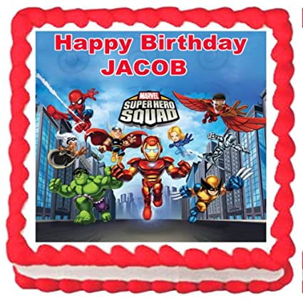 Amazon Com Toy Store Super Hero Squad Party Edible Image Cake