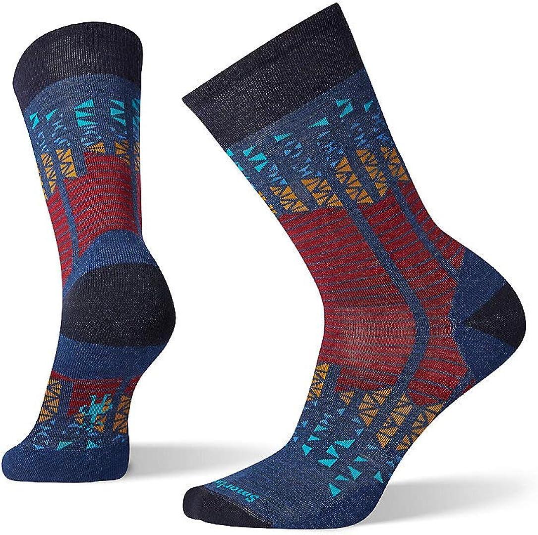 Smartwool Mountain Borough Crew Socks - Men's Ultra Light Cushioned Merino Wool Performance Socks