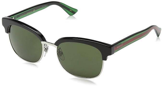 Gucci GG0056S 002 Gafas de Sol, Negro (Black/Green), 54 para ...