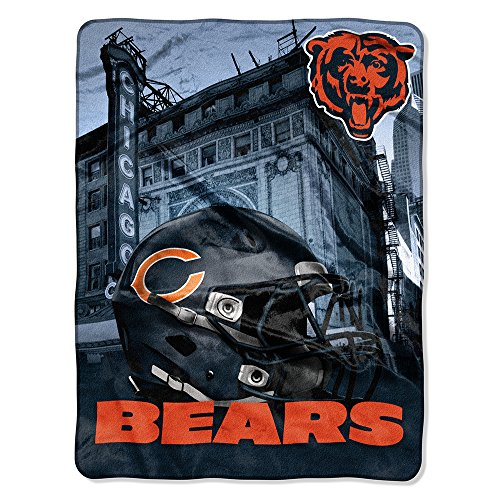 The Northwest Company NFL Chicago Bears Silk Touch Raschel Super Plush Throw, One Size, ()