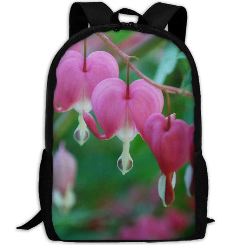 subensm Bleeding Hearts Man & Womanバックパックデイパックフィットアウトドアバックパック旅行、ハイキング、キャンプ&カジュアル、大学、学校、ブックバッグ B07FP99LW3