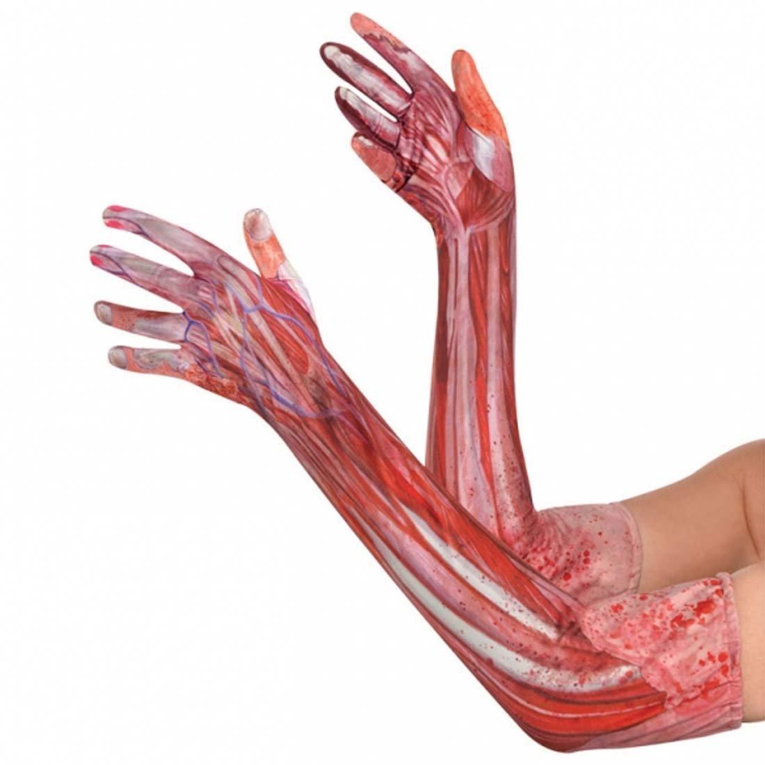 Unterarm Mensch Halloween Anatomie Handschuhe blutiger Arm Partygag ...