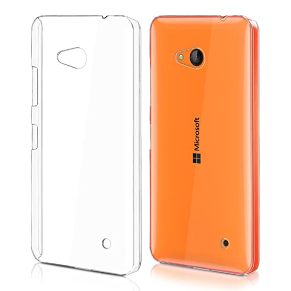 info for d73a8 e653d kwmobile Crystal Case for Microsoft Lumia 640 - Hard Durable Transparent  Protective Cover - Transparent