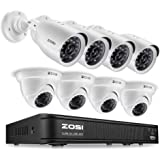 ZOSI 720p HD-TVI Home Surveillance Camera System ,8 Channel Security Dvr (No