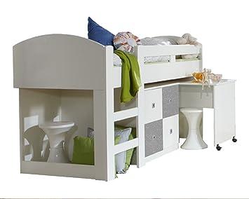 Etagenbett Abenteuerbett : Jugendbett abenteuerbett hochbett weiß beton grau