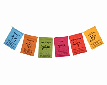 Amazoncom Dharmaobjects Handmade Tibetan Affirmation Prayer Flags