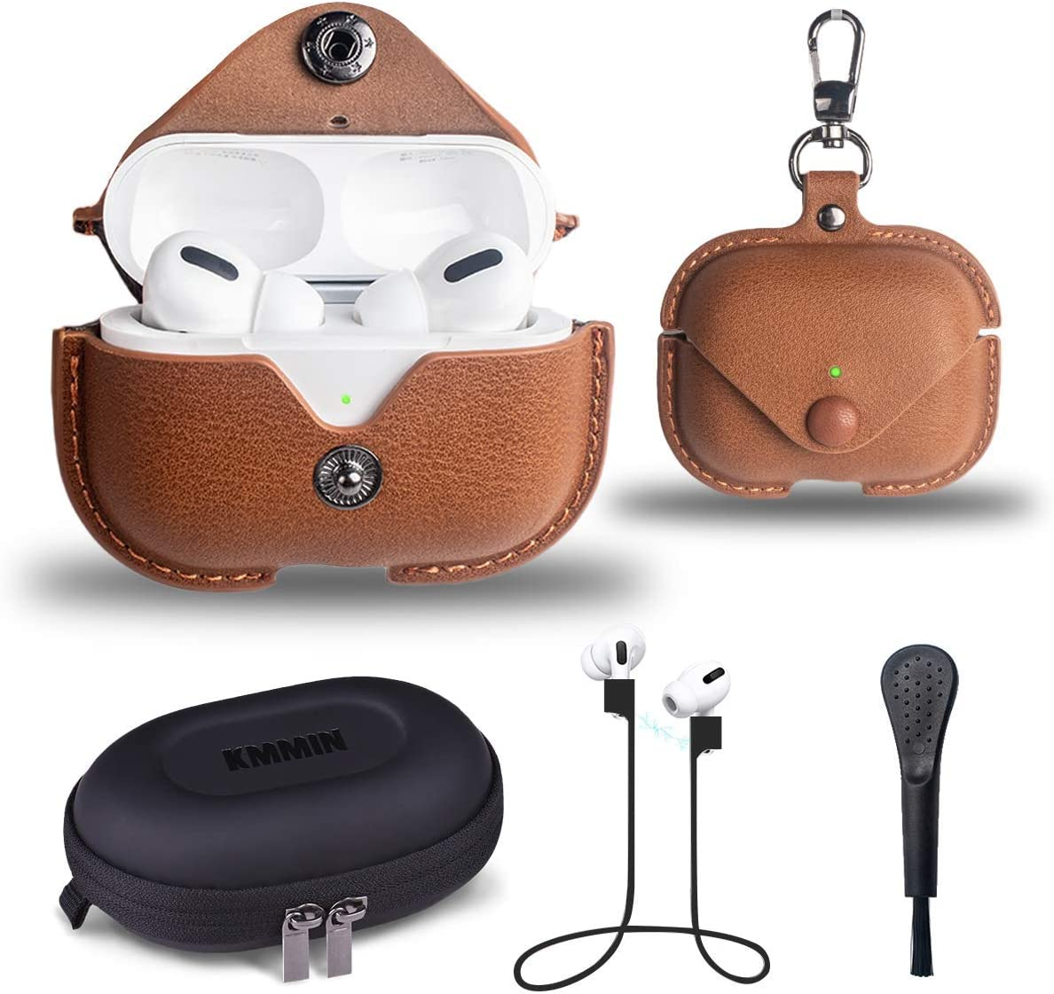 Amazon Com Leather Case For Airpods Pro 3 Gen Led Visible