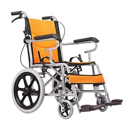 Sillas de ruedas plegables para personas mayores Acero al carbono Sillas de ruedas para discapacitados Scooters