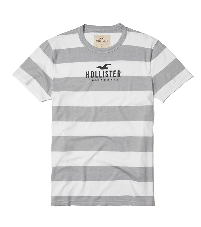 Hollister SHIRT メンズ B076Y8ZZR3 S|Gray Stripe 21 Gray Stripe 21 S