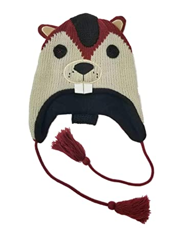 Mens Beaver Peruvian Pom Trapper Beanie Stocking Cap Hat At Amazon