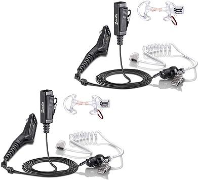 Zeadio, auricular acústico para vigilancia, auricular con tubo y ajuste para la radio multipin Motorola y Walkie Talkie: Amazon.es: Electrónica
