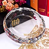 CLG-FLY Personality European fashion KTV transparent crystal glass ashtray glass ashtray,25CM pineapple