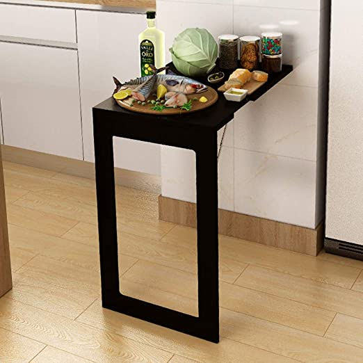 Mesa de comedor plegable de pared Mesa plegable para espacios ...