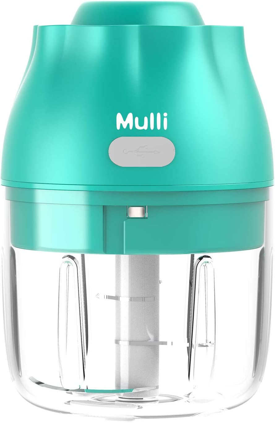 Mulli Electric Garlic Chopper,Mini Food Slicer,Portable Processor for Vegetable/Spices/Seasoning/Nuts/Meat and More,Easy Use Whenever Kitchen or Outdoor