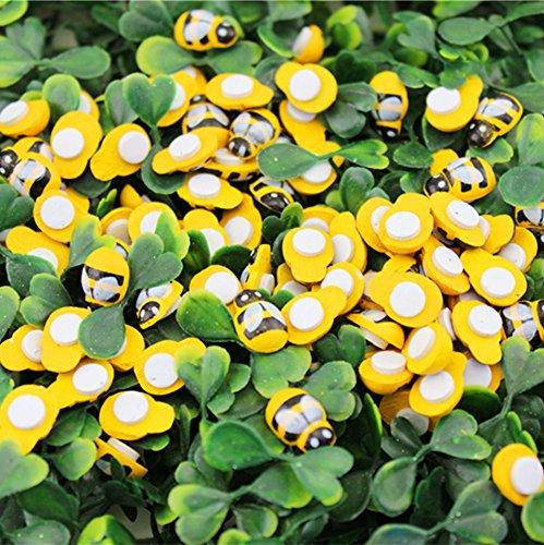 Junson Approx. 200 Pcs Wooden Bumble Bee Self Adhesive Wood Craft Card 4336896039