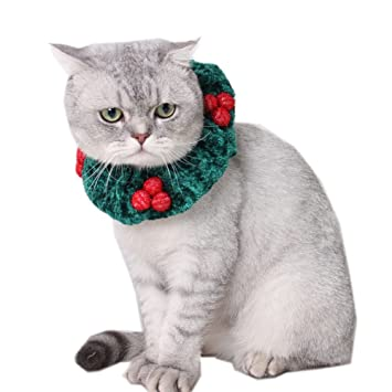 Cat Dog Christmas Costumes Puppy Cat Christmas Cherry Collar Cats Costume for Cats Small Animal (  sc 1 st  Amazon.com & Amazon.com : Cat Dog Christmas Costumes Puppy Cat Christmas Cherry ...