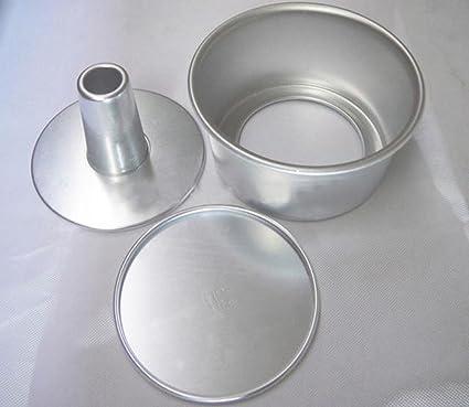 Dealglad® 6 pulgadas de la aleación de aluminio hueco redondo inculpabilidad molde pastel de Ángel
