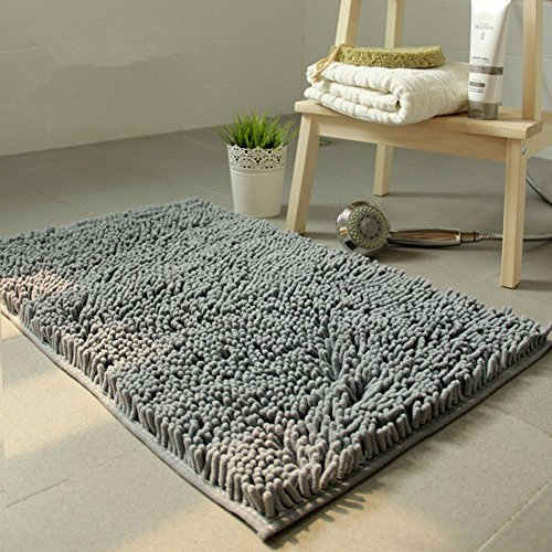 HOMEE Chenille Mats Living Room Coffee Table Bedroom Bedside Kitchen Door,M,100X160Cm(39X63Inch) by HOMEE