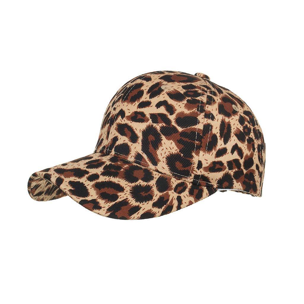 Damen Leopard Baseball CapVerstellbare Schnell Trocknende Bel/üftung Baseballm/ütze Sportlicher Stil Hut Geschwungene Kappe Sonnenhut Metallschnalle Hei/ßes Geschenk TM Saingace