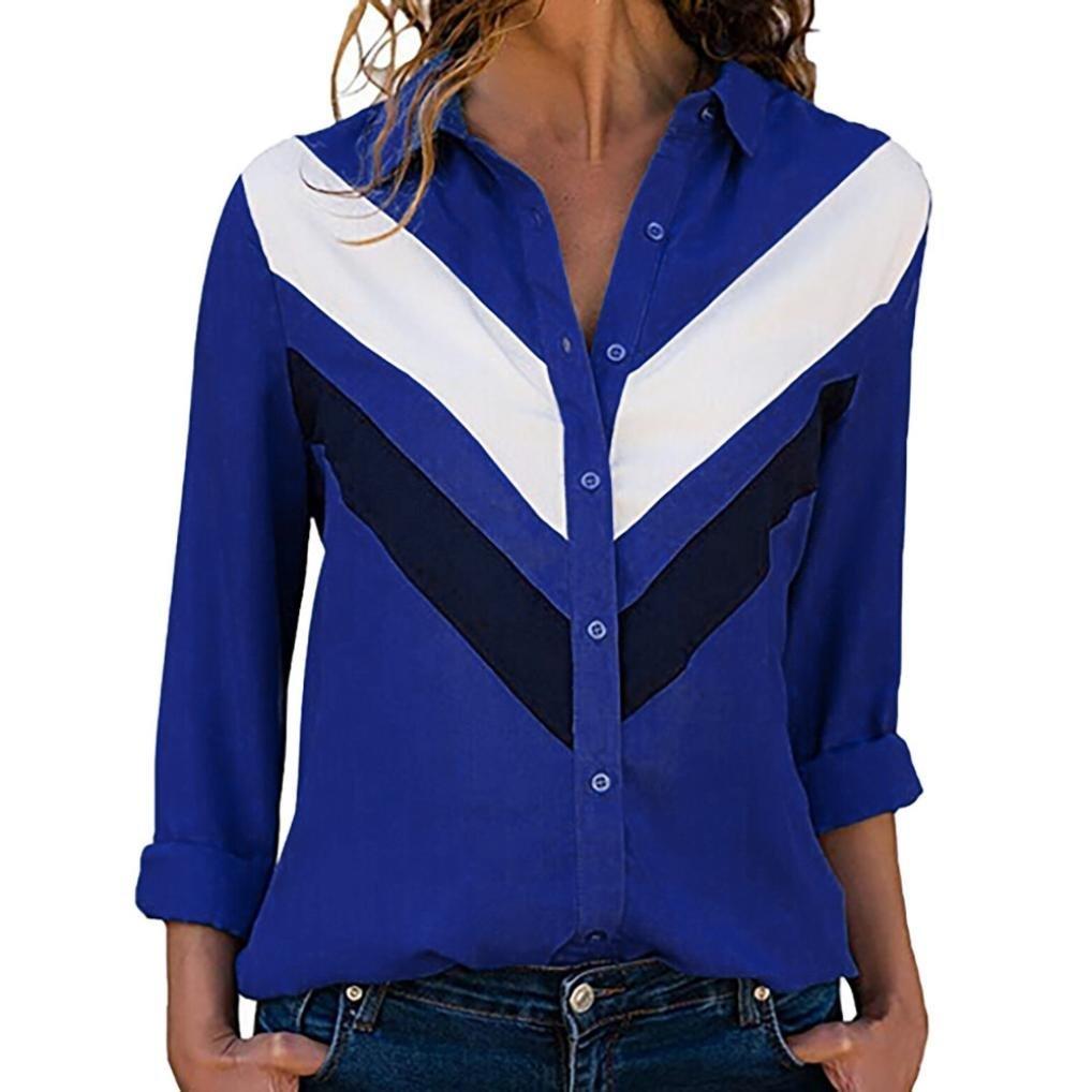Mujer Blusa topsa camiseta T-shirt manga larga y corta, Sonnena Las mujeres camiseta moda de impresión de letras manga corta y larga empalme blusa Tops ropa camiseta