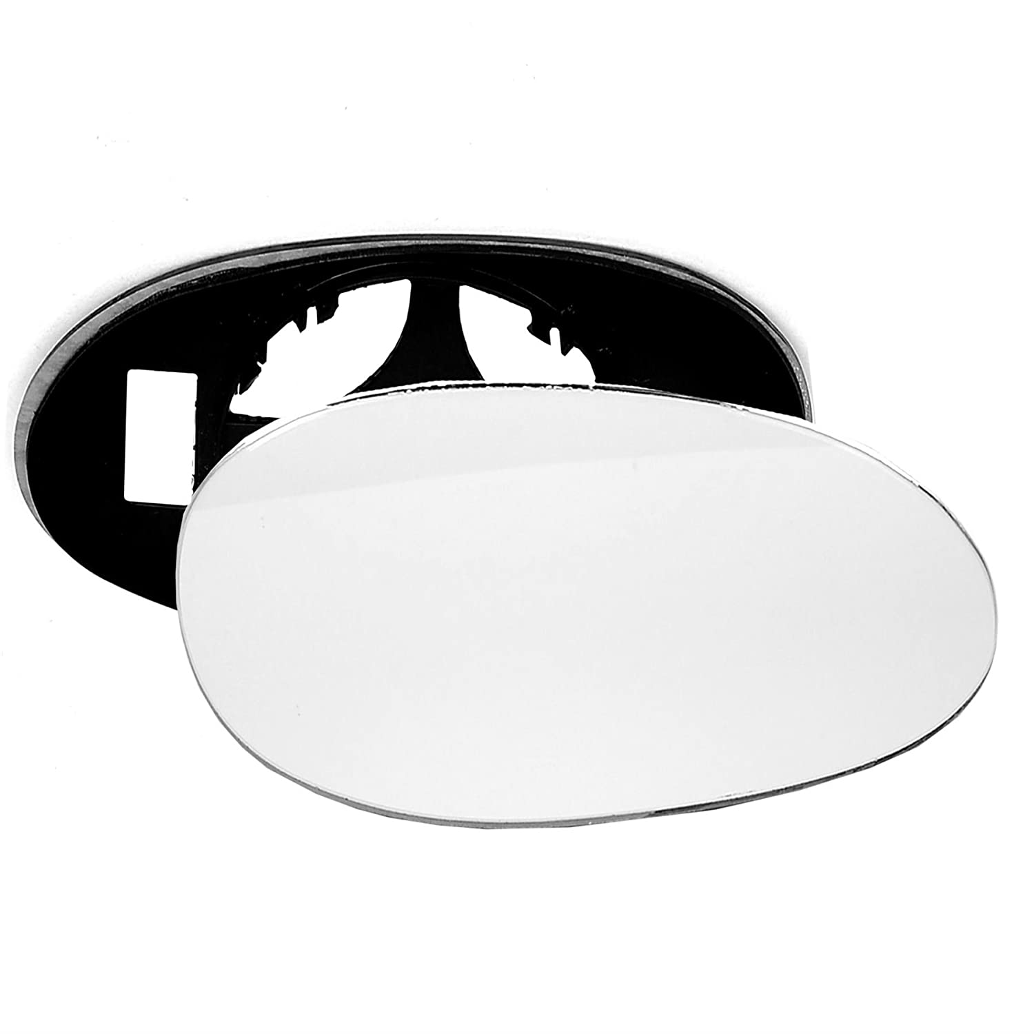 For Smart Fortwo 1998-2003 Driver right hand side wing door mirror convex glass with backing plate