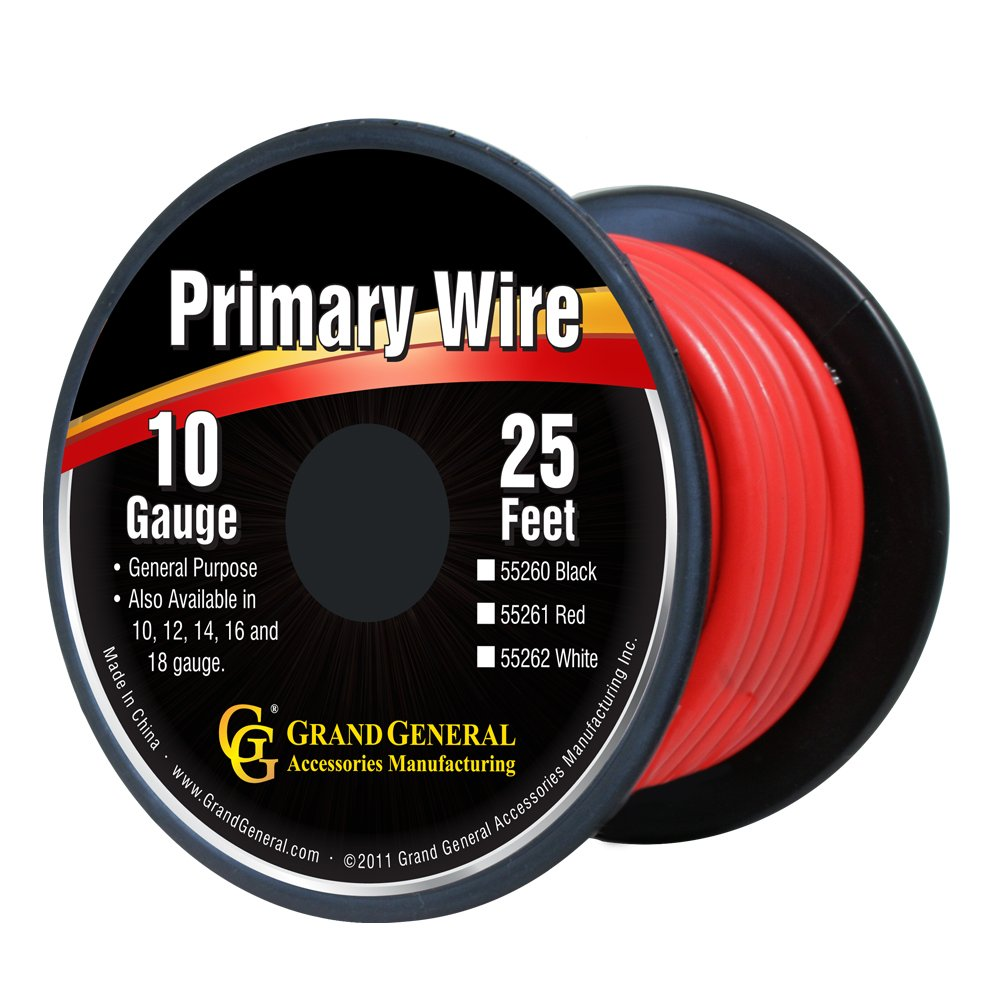 Grand General 55262 White 10-Gauge Primary Wire