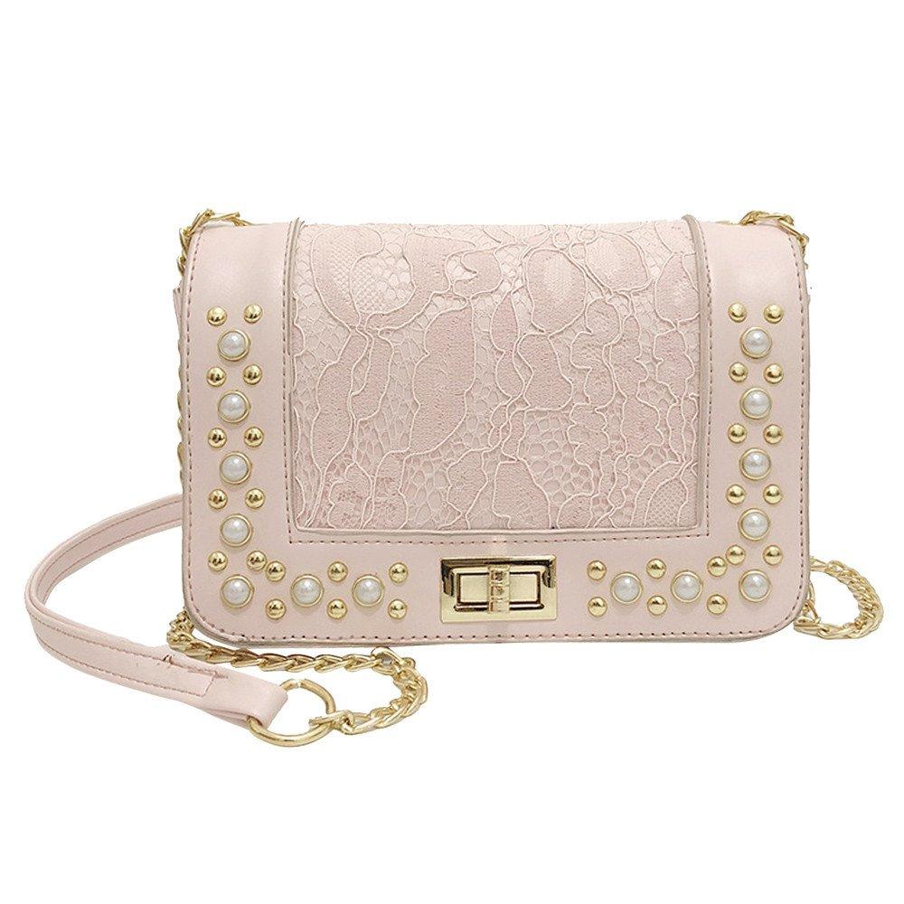 Shoulder Bag, Luxury Pearl Bags Women Crossbody Bags Girls Messenger Bags Small Handbags Phone Coin Bags (Pink)
