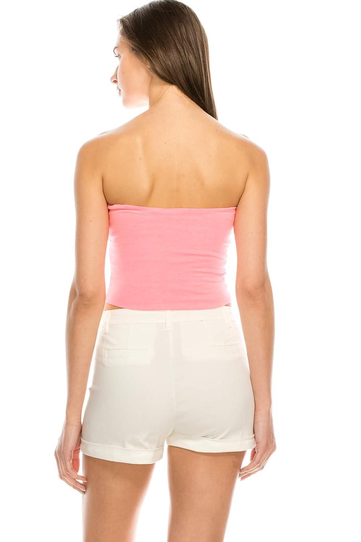 efcb456ac7 SALT TREE Women s Basic Thick Strapless Cotton Tube Top at Amazon Women s  Clothing store