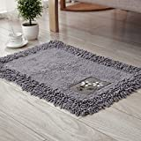 """Ukeler Home Essentials Grey Cotton Chenille Rug for Kitchen, Living Room, Entry Way, Laundry Room, 23.5""""x35.4"""" Review"""