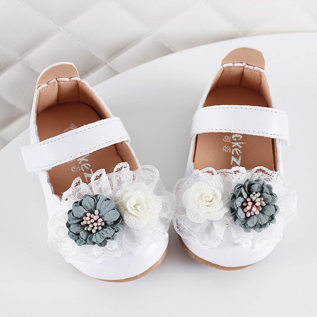 Ankola Newborn Sneakers Baby Girls Lace Flower Soft Anti-Slip Toddler Shoes Infant First Walkers Shoes Prewalker