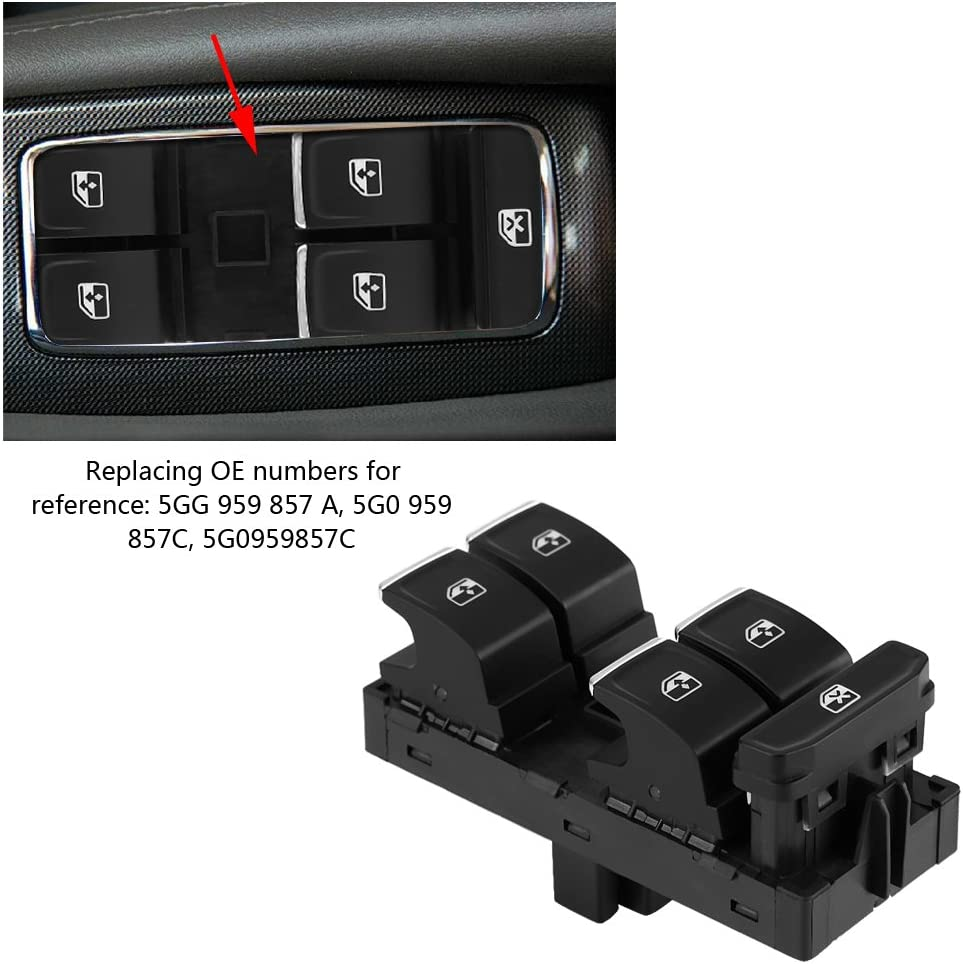 Power Window Master Control Switch OE 5G0 959 857C Suuonee Power Window Switch