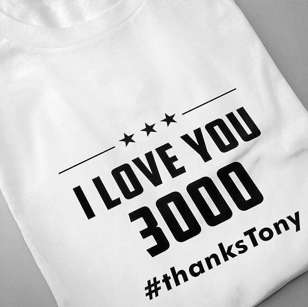 zarupeng✦‿✦ Moda de Verano para Hombres I Love You 3000 Camisetas de impresi/ón Camiseta de Manga Corta Blusa con Top