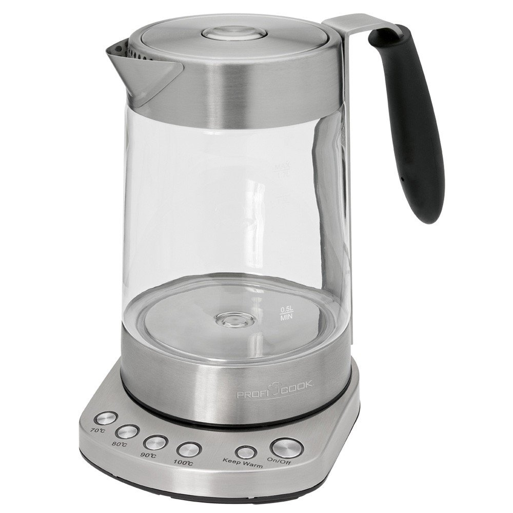 Proficook Germany WKS 1020G Glass Tea Kettle with Filter