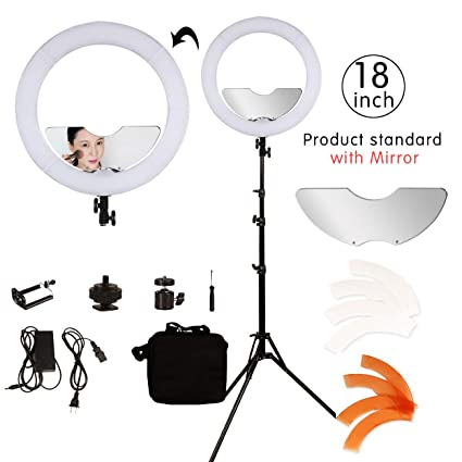 Amazoncom Bywlwlmy 18 Inch 240 Led Ring Light Kit Dimmable Photo