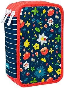 Estuche Milan Flowery Triple 53 Piezas: Amazon.es: Oficina y papelería